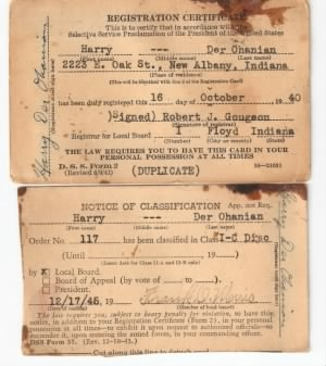 Selective Service cards