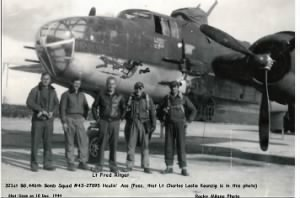 321stBG,446thBS, Lt Charles L Kaenzig shot-down in this B-25 10 Dec. 1944 /MTO