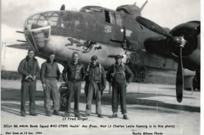 321stBG,446thBS, Lt Charles L Kaenzig shot-down in this B-25 10 Dec. 1944 /MTO - Fold3.com