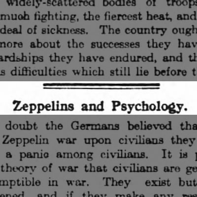 Zeppelins and Psychology