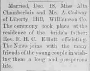 Alta Chamberlain 1892 Weds A. Conway.JPG