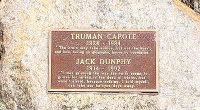 Truman Capote and Jack Dunphy Stone at Crooked Pond