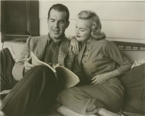 Fred McMurray and June Haver read through a script. (Photo: Fred and June MacMurray Foundation through the Healdsburg Museum.)