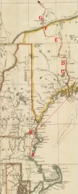 Map of part of Arnold's Expedition to Quebec (1775)
