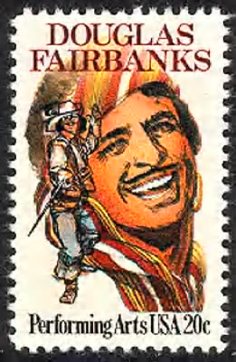 Douglas Fairbanks Sr Stamp