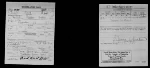 Frank E. Law WWI Draft Registration