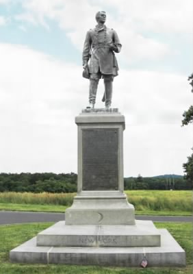 Brigadier General  Francis Channing Barlow statue at Gettysburg