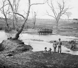 Federal cavalry at Sudley Spring Ford
