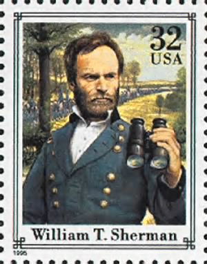 William T. Sherman Stamp 1995.gif