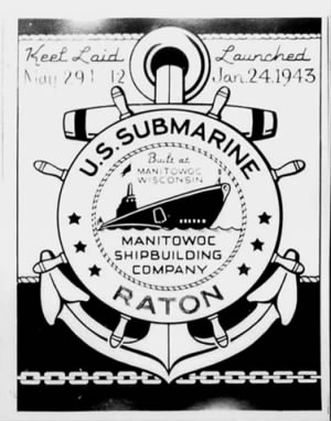 USS RATON (SS-270) - Commissioning
