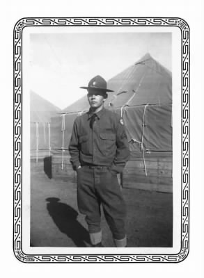 Cpl. Robert Evins at Camp Bowie-1941