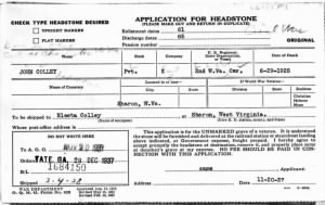 John Colley - Electa - U.S., Headstone Applications for Military Veterans.x.jpg