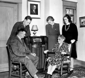 Listening to the radio for election results regarding the election of Harry S. Truman as Vice-President Elect, are Senator Truman's family..jpg