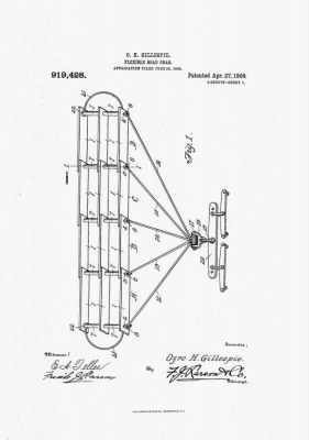 Ozro H Gillespie Diagram1 1909 Flexible Road Drag Patent.jpg
