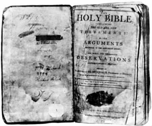 The frontispiece of the Bible of Thomas Lincoln, the father of Abraham Lincoln.jpg
