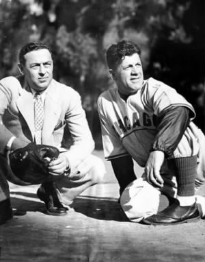 Cubs owner Phillip K. Wrigley and manager Charlie Grimm watch a spring training workout on Feb. 26, 1938, on Santa Catalina Island, Calif..jpg