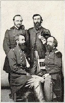 Standing to the left is Colonel Wager Swayne with the 43rd Col John W Fuller, Major WR Thrall and Edward F Noyes.jpg