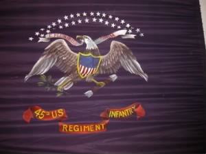 Flag of the Illinois 45th US Infantry Regiment.JPG