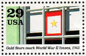 Gold stars mark World War II losses.gif