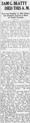 Samuel G Beatty 1932 Obituary2.jpg