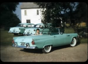ann huebner with ralph miller car.jpg
