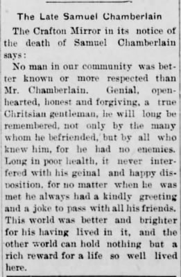 The Daily Notes, Canonsburg, PA, 12 May 1902, p. 3.