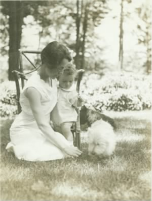 Anne Morrow Lindbergh and son Charles,.jpg