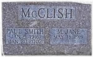 Paul Smith McClish tombstone.jpg