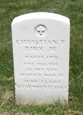 Christian F Birx Jr headstone.jpg