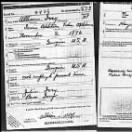 Allison Ivey WW 1 Draft Card