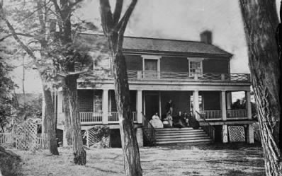 The McLean house at Appomattox Court House, where Lee surrendered to Grant