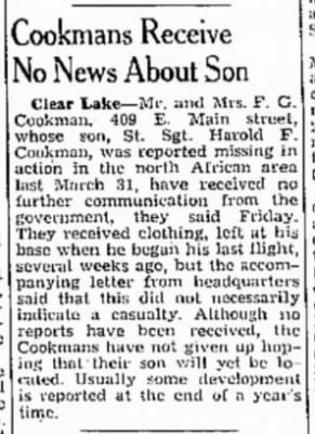 Cookman, Harold F_The_Mason_City_Globe_Gazette_Fri_24 March 1944_Pg 7.JPG