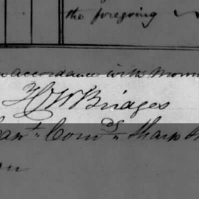 signature of Henry W. Bridges
