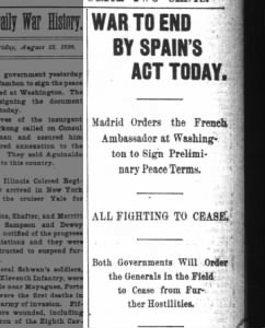 Fold3 Image - Spanish-American War peace protocol to be signed